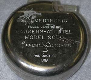 Medical pacemakers, like this one recovered from a U.S. facility, primarily contain Pu238
